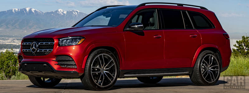Cars wallpapers Mercedes-Benz GLS 580 4MATIC AMG Line (Designo Cardinal Red) US-spec - 2019 - Car wallpapers